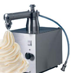 CREAM WHIPPING MACHINE  0L Mussana Mini 1,5L/min External 220x310x400mm (WxLxH) 1~230VAC 50Hz 0,5kW Stainless steel Suction hose to external cream container