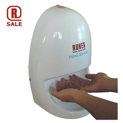 HAND STERILIZER White PVC Table top model Rechargeable battery 12V