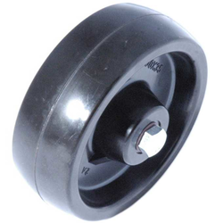 WHEEL ø100x35mm Resin Heat resistant Teflon bushing Temp -20..+300°C Payload 200kg Complete with axle set
