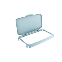 LID  60L Grey Plastic with hinges to bin 60L rectangular