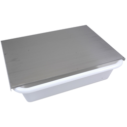 LID to 25L bin Stainless steel 3-sided 1 long side open To 255-31131000