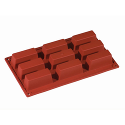 SILICONE BAKING MOULD PAN GN1/3 RECTANGULAR 62ml (9x 80x30x30mm)