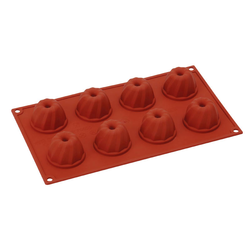 SILICONE BAKING MOULD PAN GN1/3 GUGELHUPF  50ml (8x ø52x32mm)