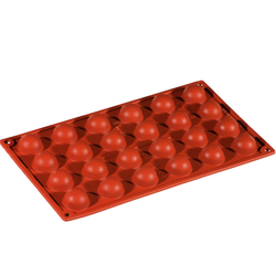 SILICONE BAKING MOULD PAN GN1/3 HALF SPHERE   8,5ml (24x ø30x15mm)   {Conforms with: EU 1935/2004, EU 2023/2006}