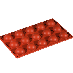 SILICONE BAKING MOULD PAN GN1/3 HALF SPHERE  17ml (15x ø40x20mm)   {Conforms with: EU 1935/2004, EU 2023/2006}
