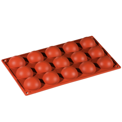 SILICONE BAKING MOULD PAN GN1/3 HALF SPHERE  33ml (15x ø50x23mm)   {Conforms with: EU 1935/2004, EU 2023/2006}