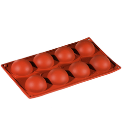 SILICONE BAKING MOULD PAN GN1/3 HALF SPHERE  57ml (8x ø60x30mm)   {Conforms with: EU 1935/2004, EU 2023/2006}