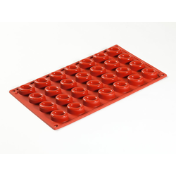 SILICONE BAKING MOULD PAN GN1/3 OVAL SAVARIN   7,5ml (28x 35x25x13mm)   {Conforms with: EU 1935/2004, EU 2023/2006}