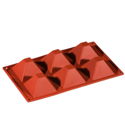 SILICONE BAKING MOULD PAN GN1/3 PYRAMIDE  92ml (6x 71x71x40mm)   {Conforms with: EU 1935/2004, EU 2023/2006}