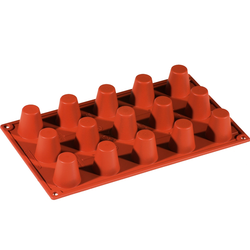 SILICONE BAKING MOULD PAN GN1/3 ROUND BABA  25ml (15x ø35x38mm)   {Conforms with: EU 1935/2004, EU 2023/2006}