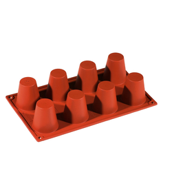 SILICONE BAKING MOULD PAN GN1/3 ROUND BABA  97ml (8x ø55x60mm)   {Conforms with: EU 1935/2004, EU 2023/2006}