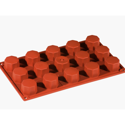 SILICONE BAKING MOULD PAN GN1/3 OCTAGONE  28ml (15x ø38x26mm)
