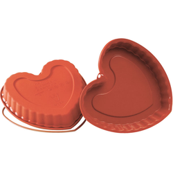 SILICONE BAKING MOULD PAN HEART 220x218x30mm   {Conforms with: EU 1935/2004, EU 2023/2006}