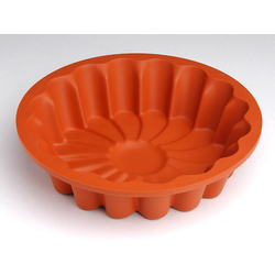 SILICONE BAKING MOULD PAN MARGHERITA CAKE ø200x40mm 1,26L {Conforms with: EU 1935/2004, EU 2023/2006}