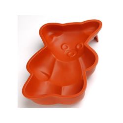 SILICONE BAKING MOULD PAN BEAR 280x180x55mm 1,96L {Conforms with: EU 1935/2004, EU 2023/2006}