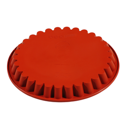 SILICONE BAKING MOULD PAN ROUND FLUTED ø280x30mm 1,60L {Conforms with: EU 1935/2004, EU 2023/2006}