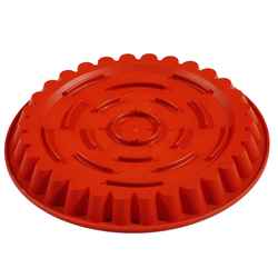 SILICONE BAKING MOULD PAN ROUND FLUTED ø300x30mm 1,85L With rim