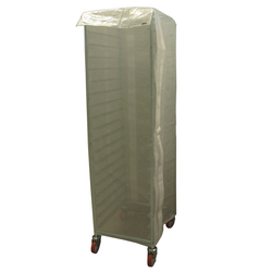RACK DUST COVER 40x60 1670mm Transparent reinforced PE-plastic door with Velcro locking {Conforms with: EU 1935/2004, EU 2023/2006}