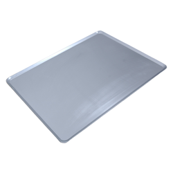 PLAIN BAKING TRAY SHEET PAN 46x61 FLD-type Aluminium 1,4mm 4 sides 12mm/45º {Conforms with: EU 1935/2004, EU 2023/2006, EN AW-3003}