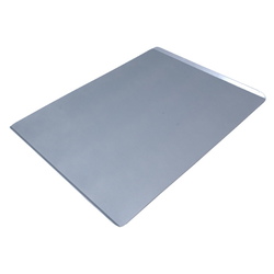 PLAIN BAKING TRAY SHEET PAN 50x70 Aluminium 2,0mm Nonstick Silicone resin coated RilonHard Grey Short sides 14mm/45° {Conforms with: EU 1935/2004, EU 2023/2006, EN AW-3003}