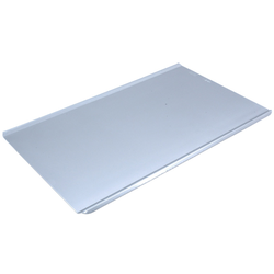 PLAIN BAKING TRAY SHEET PAN GN1/1 STD-type Aluminium 1,4mm Long sides crease {Conforms with: EU 1935/2004, EU 2023/2006, EN AW-3003}