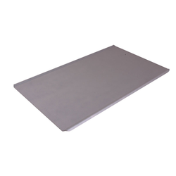 PLAIN BAKING TRAY SHEET PAN GN1/1 STD-type Aluminium 1,4mm Nonstick Silicone resin coated RilonHard Grey Long sides crease {Conforms with: EU 1935/2004, EU 2023/2006, EN AW-3003}