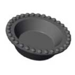 BAKING PLATE Pavoni Cookmatic ROUND 13x ø68x18,5mm Aluminium Nonstick Fluoroplastic coated for Pastry Savoury Tart {Conforms with: EU 1935/2004, EU 2023/2006 - Warning: PFAS}
