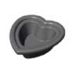 BAKING PLATE Pavoni Cookmatic HEART SHAPED 30x 47x50x18mm Aluminium Nonstick Fluoroplastic coated for Pastry Savoury Tart {Conforms with: EU 1935/2004, EU 2023/2006 - Warning: PFAS}