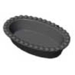 BAKING PLATE Pavoni Cookmatic OVAL 15x 70x58x16mm Aluminium Nonstick Fluoroplastic coated for Pastry Savoury Tart {Conforms with: EU 1935/2004, EU 2023/2006 - Warning: PFAS}