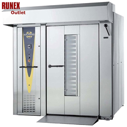 RACK OVEN Macadam-180-2 PLATFORM 3~400VAC 50Hz 70kW ***USED 3YR*** Including canopy and extraction fan