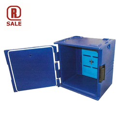 THERMO TRANSPORT CABINET 40x60 164L Blue PE-plastic Cooling block 6 rungs Internal 635x420x675mm