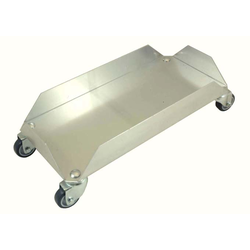 DOLLY TROLLEY 445x220mm Aluminium to 1 bin 60L art. 1800496050 4 sides 60mm/90° 4 swivel castors {Conforms with: EU 1935/2004, EU 2023/2006, EN AW-3003}