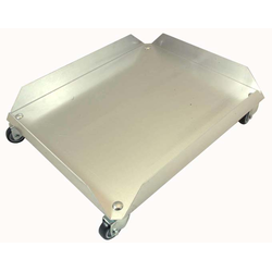 DOLLY TROLLEY 445x520mm Aluminium to 2 BIN 60L art. 1800496050 4 sides 60mm/90° 4 swivel castors {Conforms with: EU 1935/2004, EU 2023/2006, EN AW-3003}