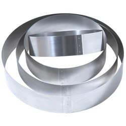 CAKE MOUSSE RING ø250x50mm Stainless steel {Conforms with: EU 1935/2004, EU 2023/2006, EN 1.4310}