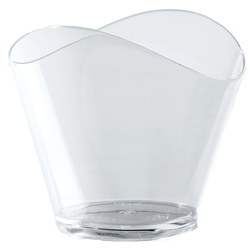 CUP DESSERT ROUND 50ml WAVE Plastic Transparent 100-pack