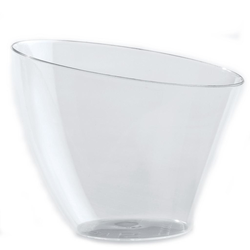 CUP DESSERT ROUND 85ml VELA Plastic Transparent 100-pack