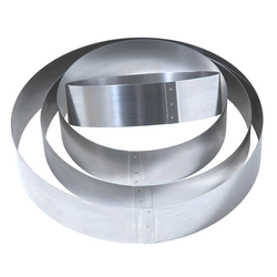 CAKE MOUSSE RING ø130x50mm Stainless steel {Conforms with: EU 1935/2004, EU 2023/2006, EN 1.4310}