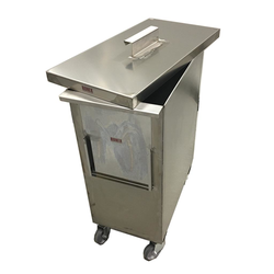 BIN 70L WITH LID MOBILE  Stainless steel External 548x290x735mm (WxLxH)