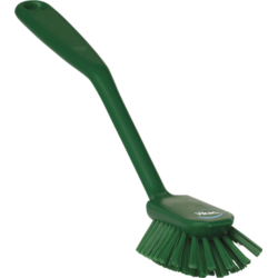BRUSH DISH BRUSH 280mm Medium With scraping edge GREEN Vikan