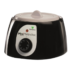 CHOCOLATE MELTER  1,8L BLACK 1~230VAC Removable bowl anodized aluminium ø185x107mm with lid