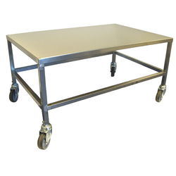 TABLE TROLLEY 100x65 Stainless steel 4 wheel 2 with brake External 1000x650x510mm (WxLxH) Maximum load 210kg {Conforms with: EU 1935/2004, EU 2023/2006, EN 1.4509, EN 1.4301}