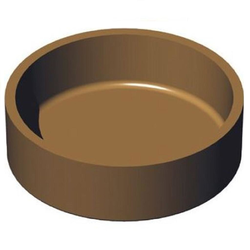 BAKING PLATE Pavoni Cookmatic ROUND 16x ø68x20mm Aluminium Nonstick Fluoroplastic coated for Pastry Savoury Tart {Conforms with: EU 1935/2004, EU 2023/2006 - Warning: PFAS}