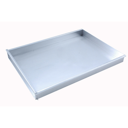BAKING TRAY SHEET PAN 45x60 450x600x50mm Aluminium 1,4mm Removable short side