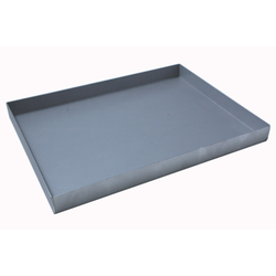 BAKING TRAY SHEET PAN 47x63 470x630x50mm Aluminium 1,4mm Nonstick Silicone resin coated RilonHard Grey