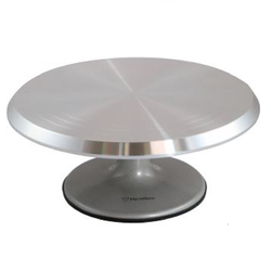CAKE TURNTABLE ø290mm Aluminium Hight 130mm Gradation 200..255mm {Conforms with: EU 1935/2004, EU 2023/2006}