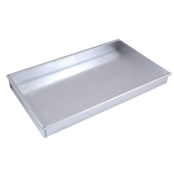 BAKING TRAY SHEET PAN GN1/1 325x530x50mm Aluminium 1,4mm Removable short side