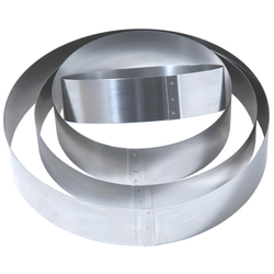 CAKE MOUSSE RING ø200x60mm Stainless steel {Conforms with: EU 1935/2004, EU 2023/2006, EN 1.4310}