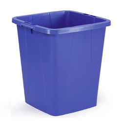 BIN  90L SQUARE Blue Plastic Internal 420x420x580mm (BxLxH) {Conforms with: EU 1935/2004, EU 2023/2006, EU 10/2011}