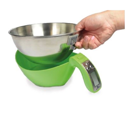 SCALE  5kg/1g Baxtran Stainless steel Bowl Ø210x115mm Batteries not included Kg/Lb. {Conforms with: EU 1935/2004, EU 2023/2006}
