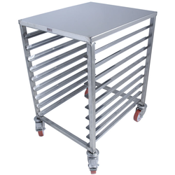 TABLE TROLLEY 45x60 9-rung Stainless steel Rung distance 68mm 4 wheel 2 with brake External 510x600x800mm (WxLxH)